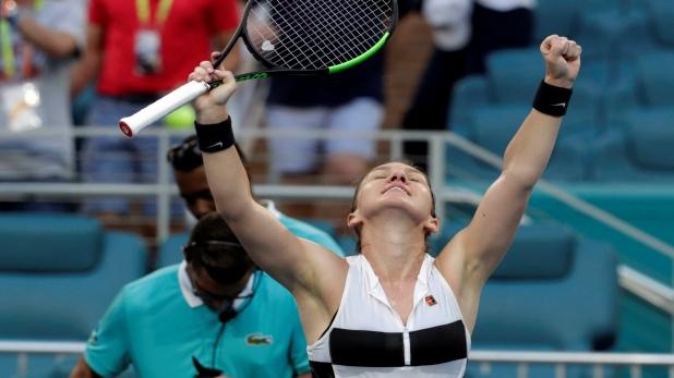 Miami Open 2019, मियामी ओपन के क्वॉर्टर फाइनल में सिमोना हालेप, वीनस विलियम्स को दी मात