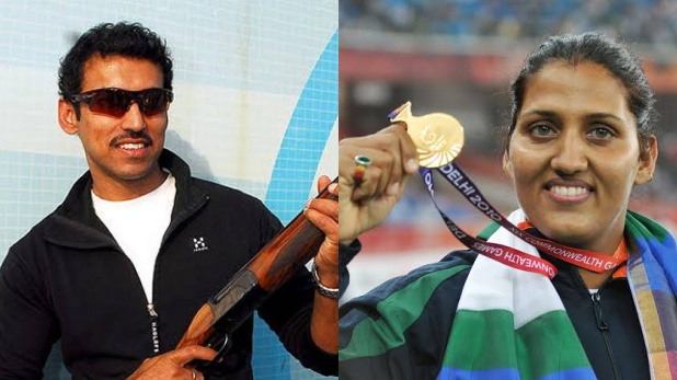Rajyavardhan Rathore and Krishna Poonia