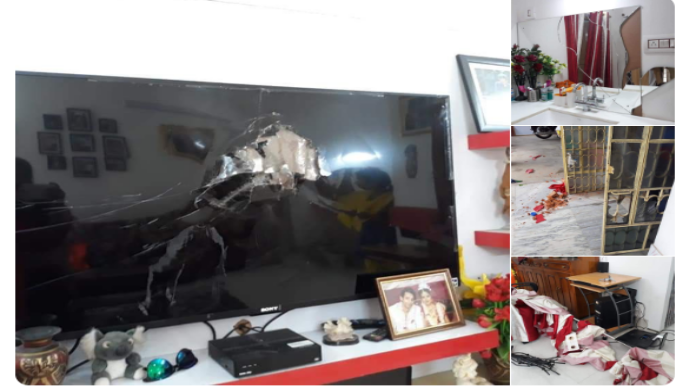 Locket Chatterjee, BJP प्रत्याशी लॉकेट चटर्जी के घर और समिक भट्टाचार्य के कार्यालय में तोड़फोड़
