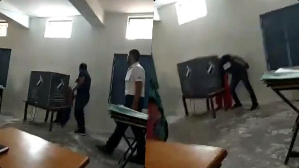 फरीदाबाद, मैं हाथी को वोट डालती उससे पहले ही BJP एजेंट ने कमल का बटन दबा दिया- पुलिस से बोली दलित महिला