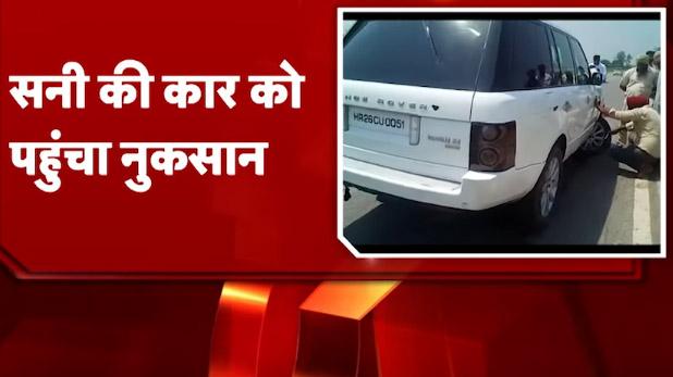 Sunny Deol, VIDEO: सनी देओल के काफिले में हुआ हादसा, आपस में टकराईं गाड़ियां
