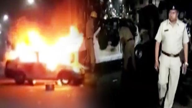 West bengal Violence, वोटिंग से पहले पश्चिम बंगाल में हिंसा, दो गाड़ियों में लगाई आग और की गोलीबारी