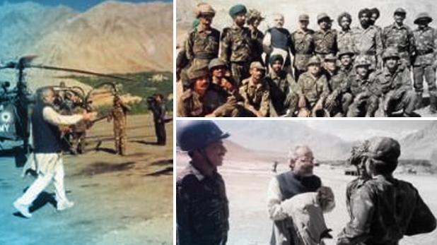 Kargil Vijay Diwas, Kargil Vijay Diwas: करगिल युद्ध के दौरान सीमा पर गए थे नरेंद्र मोदी, ट्वीट की तस्वीरें