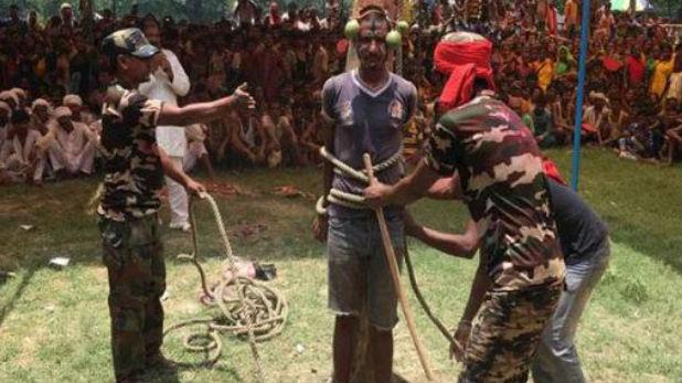 बिहार समस्तीपुर, बिहार में पंचायत का फैसला, औरत के कटवाए बाल, पोती कालिख, मर्द को पेड़ से बांधकर कोड़ों से पीटा