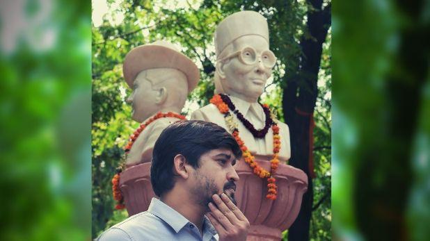 मूर्ति, रातोंरात ABVP ने DU कैंपस में लगवाई सुभाष चंद्र बोस, भगत सिंह और सावरकर की मूर्ति