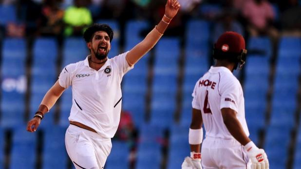 ईशांत शर्मा, ईशांत शर्मा के 'पंच' से ढेर हुआ वेस्टइंडीज, एंटीगा टेस्ट पर टीम इंडिया की पकड़ मजबूत