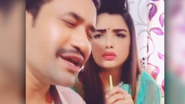 amrapali dubey, आम्रपाली ने ऐसा क्या पूछा जिस पर भड़क गए निरहुआ, देखें VIDEO