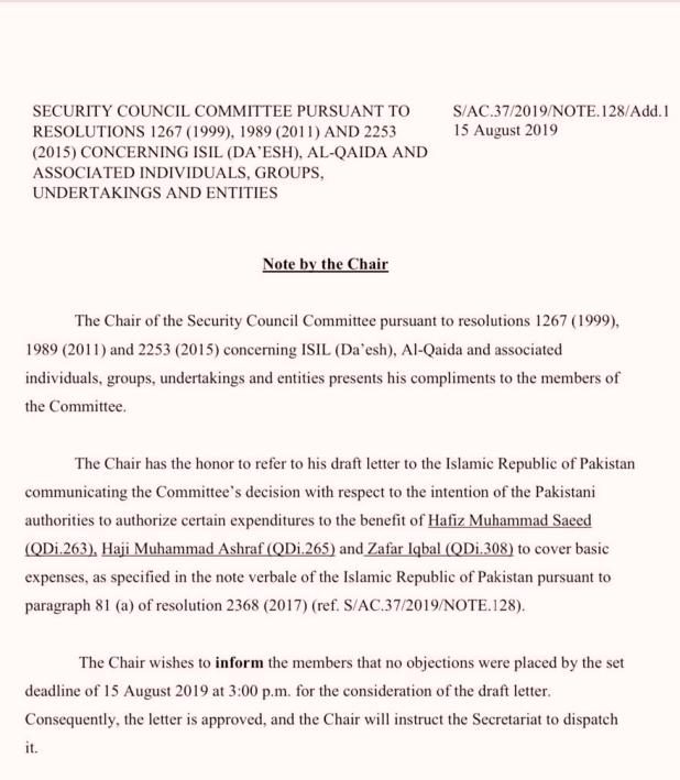 Hafiz Saeed, Exclusive: PAK की UN को चिट्ठी- घर चलाने के लिए हाफिज सईद को पैसे निकालने की मिले इजाजत
