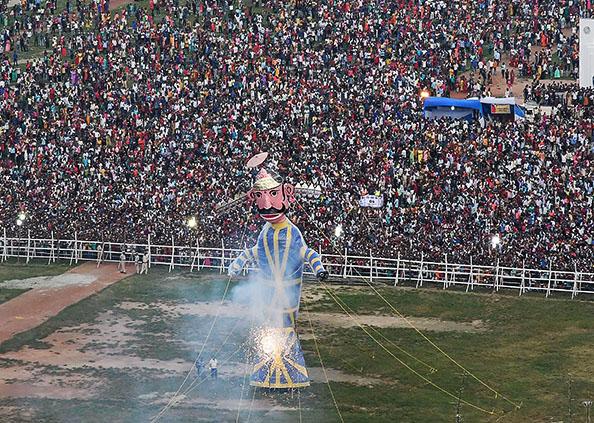 Dussehra festival celebrated