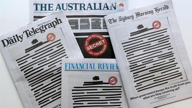 ऑस्ट्रेलिया, सारे ऑस्ट्रेलियाई अखबारों का फ्रंट पेज काला क्यों है?
