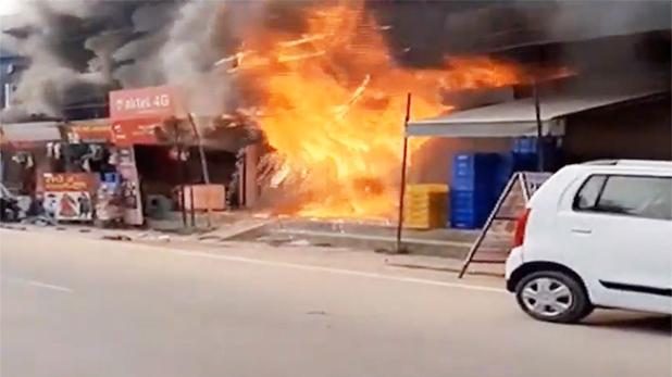 Fire in ATM, गुरुग्राम: ATM में आग लगने से देखते ही देखते खाक हुए लाखों रुपये