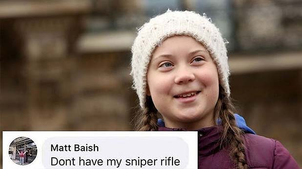 Greta Thunberg, ग्रेटा थनबर्ग पर 'स्नाइपर राइफल' जैसी भड़काऊ टिप्पणी करने वाले टीचर ने दिया इस्तीफा