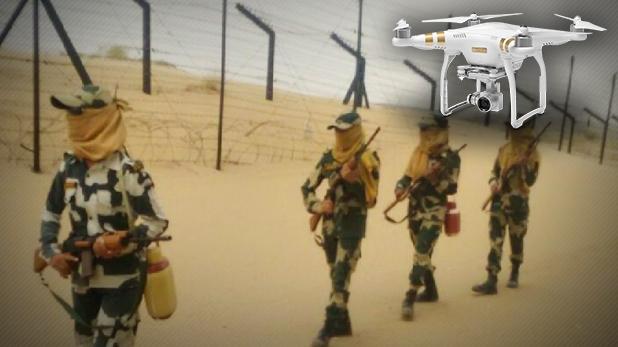 पाकिस्तानी ड्रोन्स, जैसलमेर से लगे बॉर्डर पर लगातार दिख रहे पाकिस्तानी ड्रोन्स, BSF एलर्ट