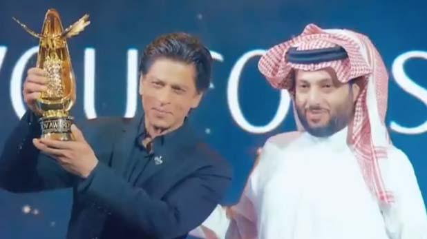 Shah Rukh khan, शाहरुख खान को विश्व सिनेमा में योगदान के लिए सऊदी अरब में मिला अवॉर्ड