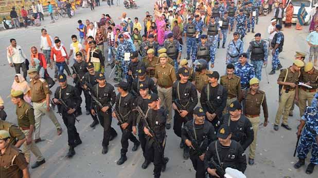ayodhya case increased security before verdict, अयोध्या में जुटे लाखों रामभक्त, सुरक्षा के कड़े इंतजामात