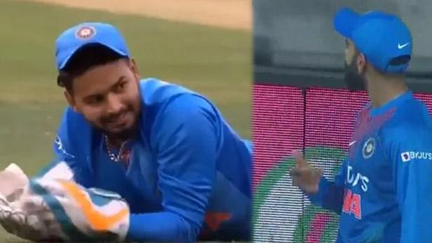 rishabh pant drop catch, ऋषभ पंत ने छोड़ा कैच तो इस खिलाड़ी के लगे नारे, कोहली ने ऐसे कराया दर्शकों को शांत