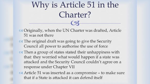 Article 51 of the UN Charter, क्या है UN चार्टर का आर्टिकल 51 जिसकी आड़ में ईरान ने अमेरिकी मिलिट्री बेस पर कर दिया हमला