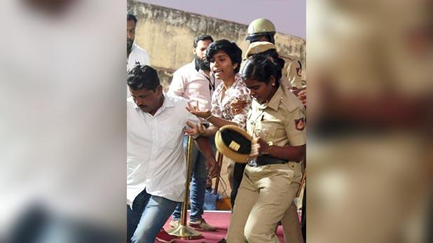 Amulya who raised Pakistan Zindabad slogan, पाकिस्तान जिंदाबाद कहने वाली लड़की को जो मारेगा उसे दूंगा 10 लाख रुपए इनाम : श्री राम सेना कार्यकर्ता