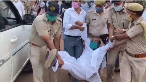 ajay lallu in custody, मजदूरों के लिए बसों पर सियासत: UP कांग्रेस अध्यक्ष हिरासत में, प्रियंका ने साधा योगी पर निशाना