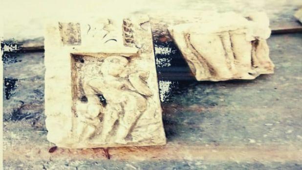 Ayodhya-Ram Janmabhoomi, राम जन्मभूमि में समतलीकरण के लिए हो रही खुदाई में मिले खंभे, प्राचीन कुआं और मंदिर की चौखट