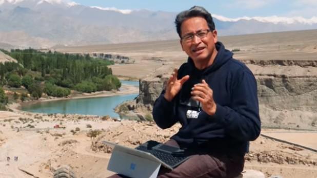 Sonam Wangchuk video on china, फिल्म '3 Idiots' के असली हीरो वांगचुक ने शेयर किया वीडियो, चीन को सबक सिखाने के लिए की ये अपील