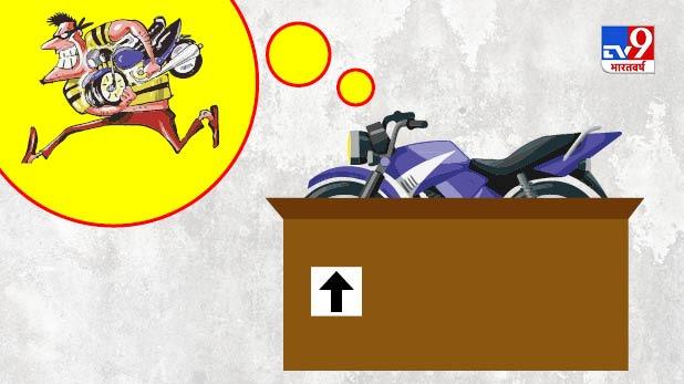 bike stolen two weeks ago, दो हफ्ते पहले चोरी हो गई थी बाइक, अब कूरियर सर्विस से चोर ने भेजी वापस