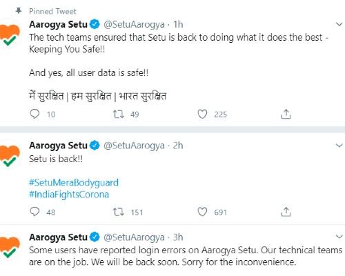 aarogya setu app login errors, तकनीकी खराबी के बाद ठीक हुआ Aarogya Setu App, काफी देर तक यूजर हुए परेशान