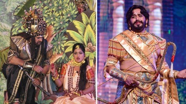 PHOTOS : मनोज बने अंगद तो शाहबाज बने रावण, दर्शकों को भा रही है रामनगरी अयोध्या की रामलीला