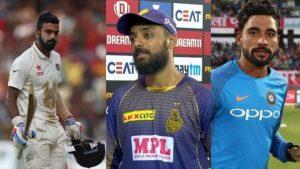 KL rahul, Varun Chakravarthy and mohammed siraj
