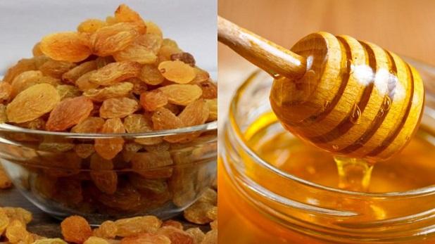 raisin and honey